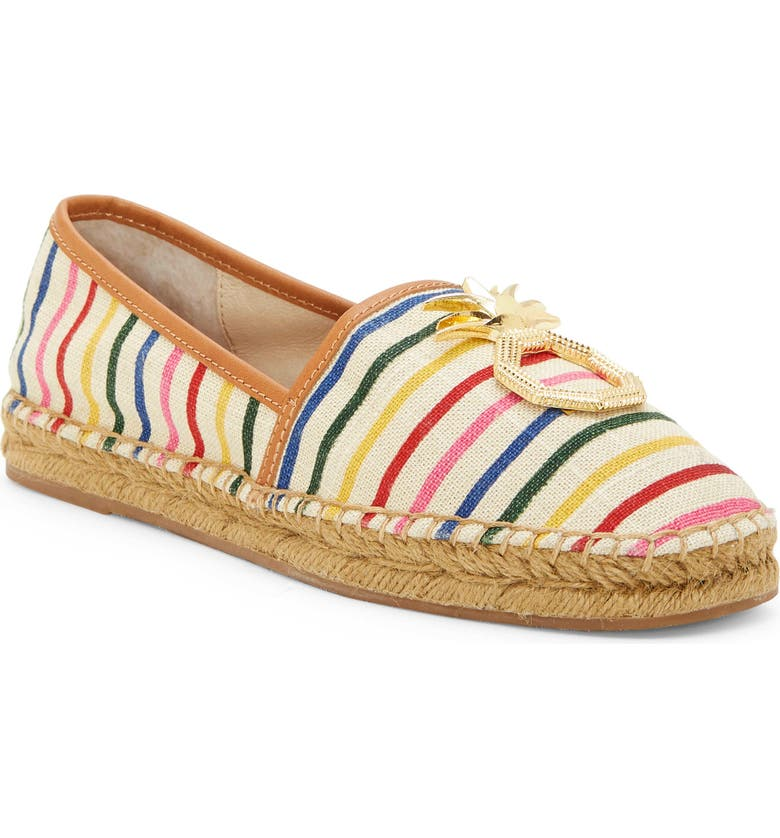 LOUISE ET CIE Adige Skimmer Flat, Main, color, RAINBOW CANVAS