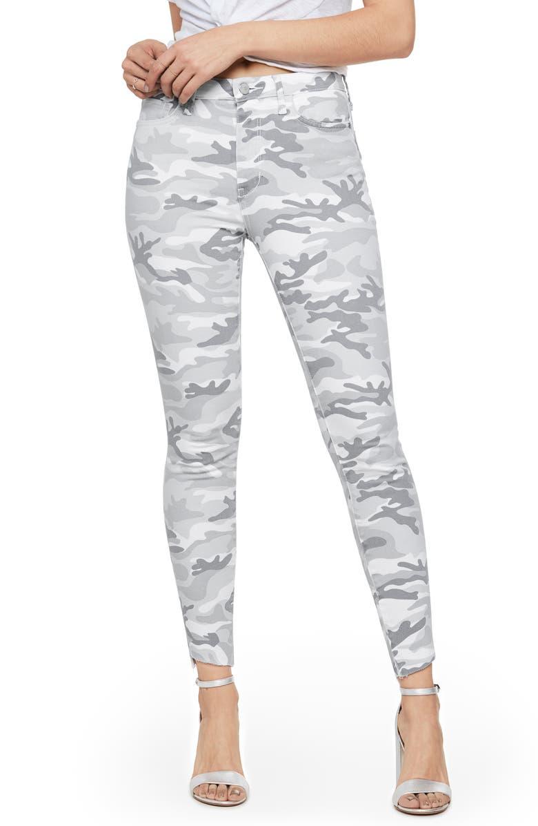 SAM EDELMAN The Stiletto Camo High Waist Ankle Skinny Jeans, Main, color, MARLEY