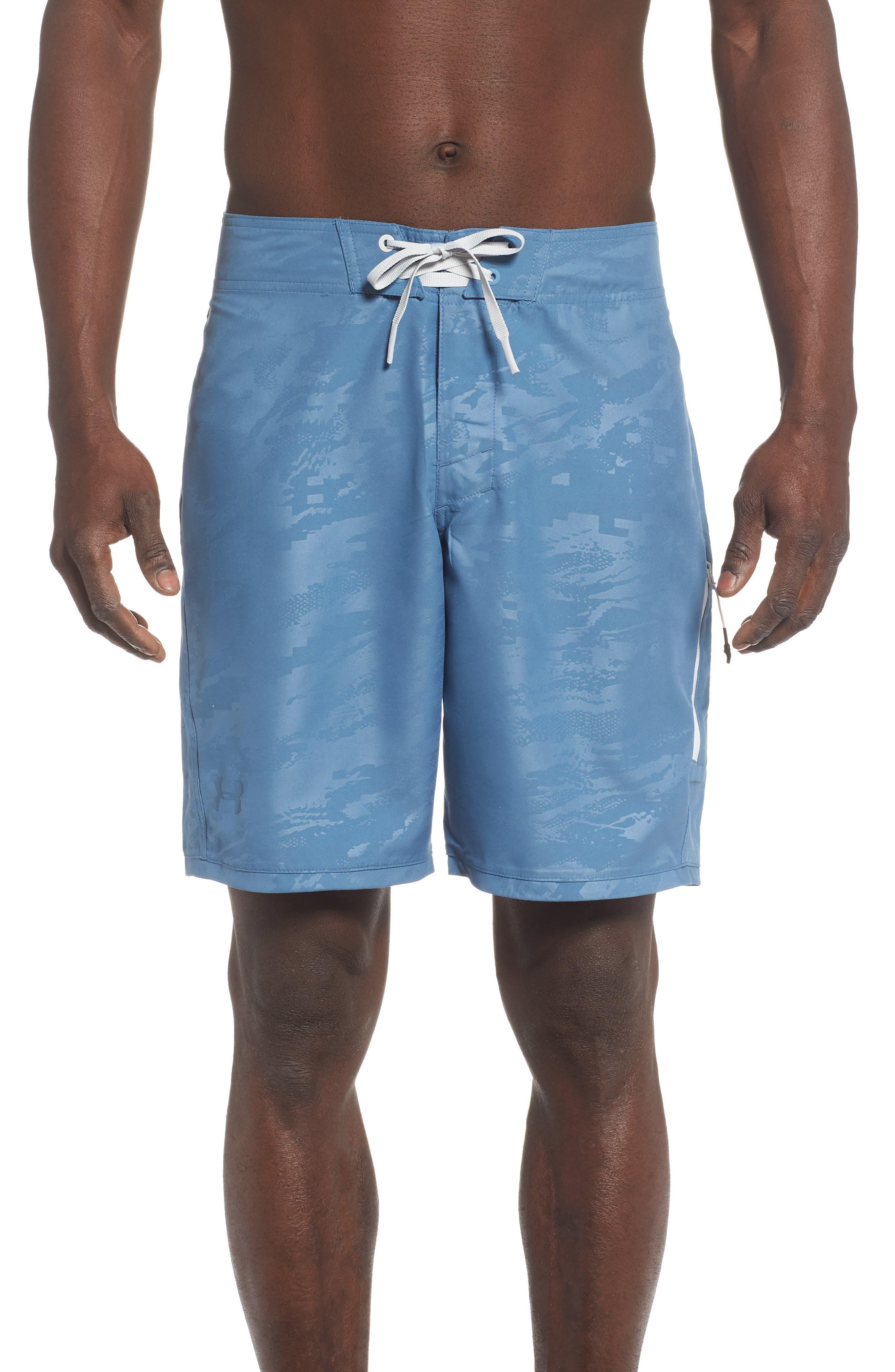 6b4b32ef88 Under Armour Short Break Embossed Board Shorts, Blue