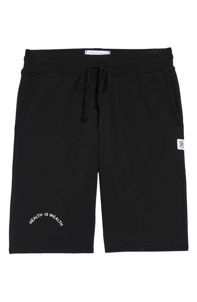 REIGNING CHAMP Cotton Shorts, Main, color, BLACK