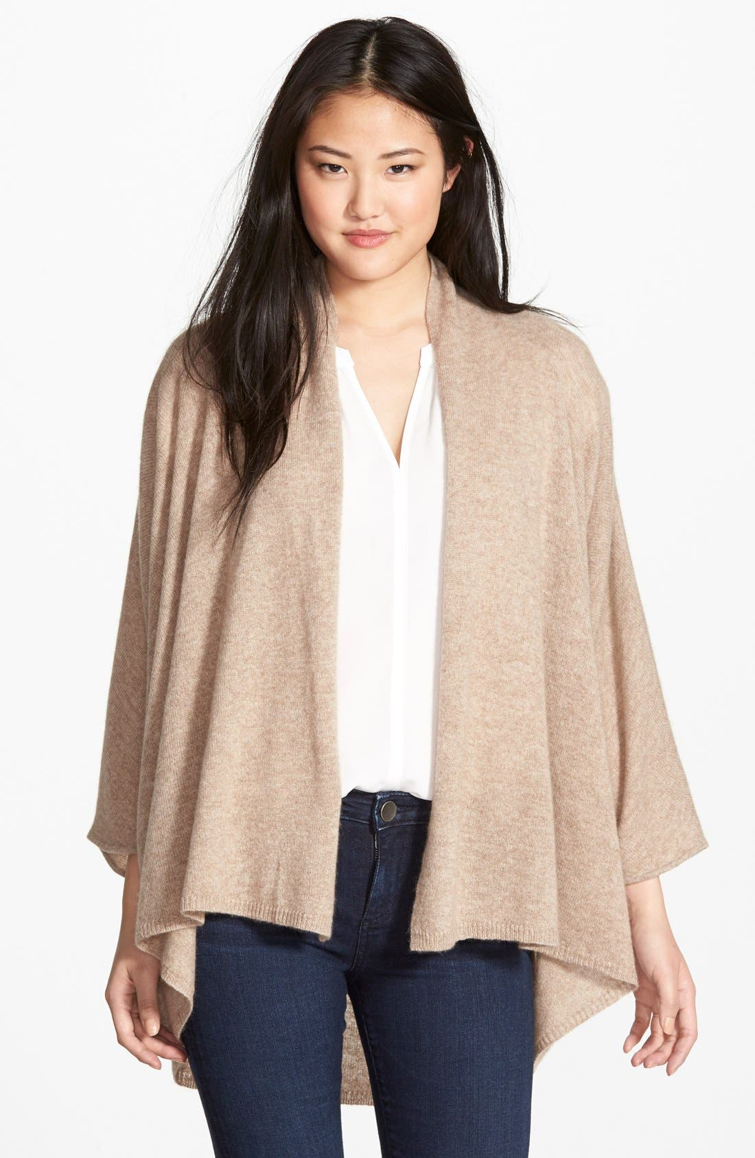 ,                             Open Front Cashmere Cardigan,                             Main thumbnail 6, color,                             250
