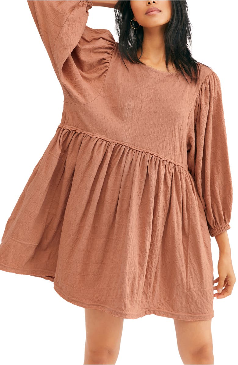 FREE PEOPLE Endless Summer by Free People Get Obsessed Babydoll Tunic Dress, Main, color, SUGAR ALMOND