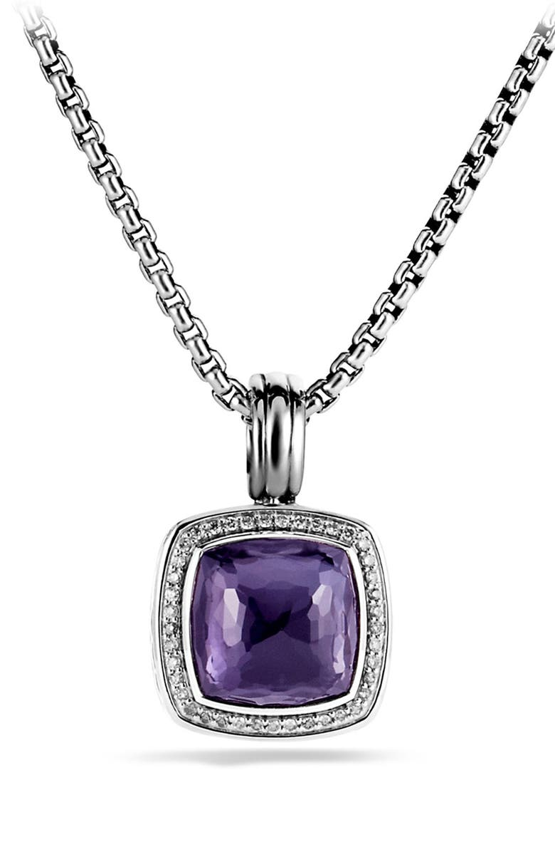 DAVID YURMAN 'Albion' Pendant with Semiprecious Stone & Diamonds, Main, color, 501