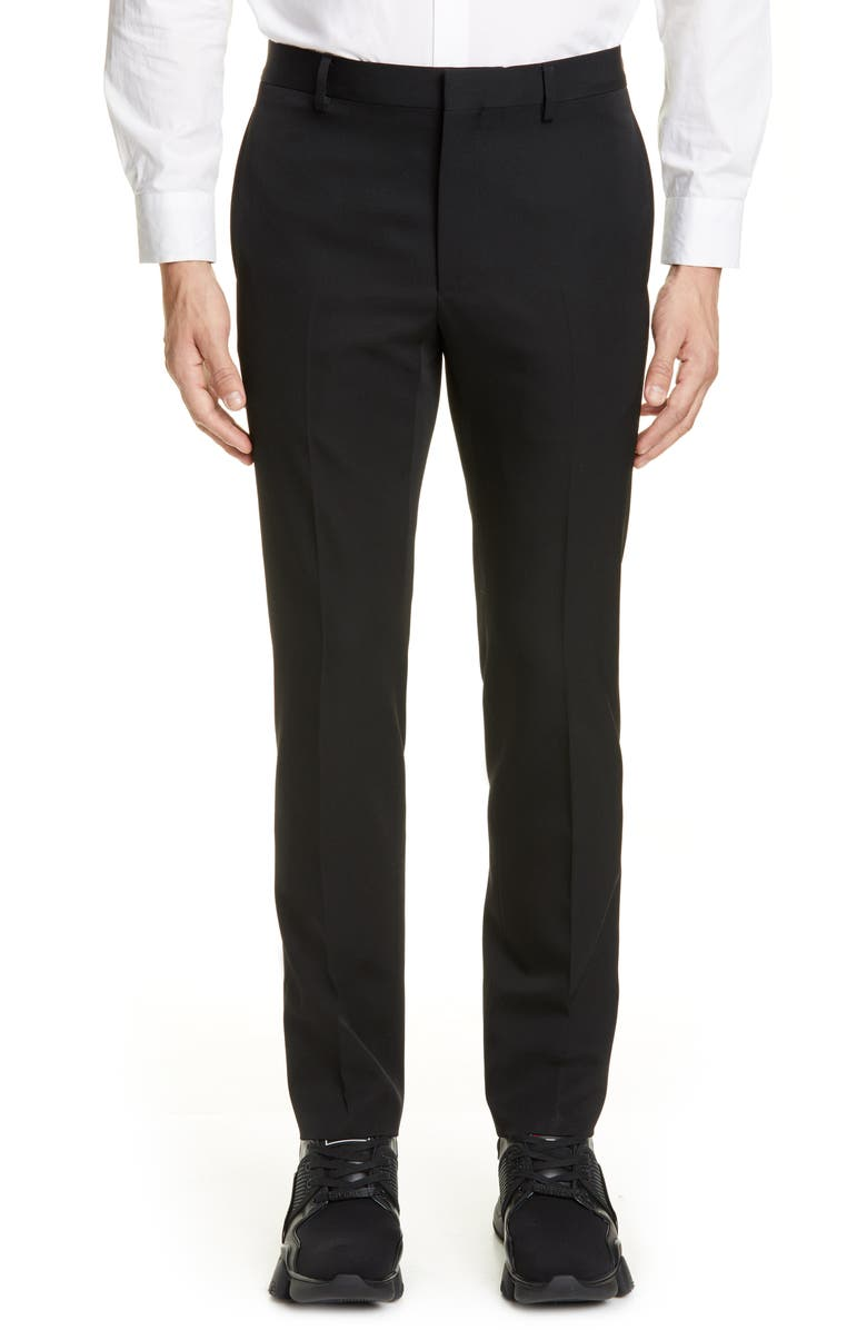 GIVENCHY Virgin Wool Trousers, Main, color, 001