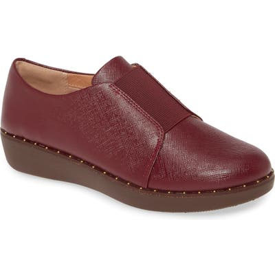 Fitflop Laceless Derby, Burgundy