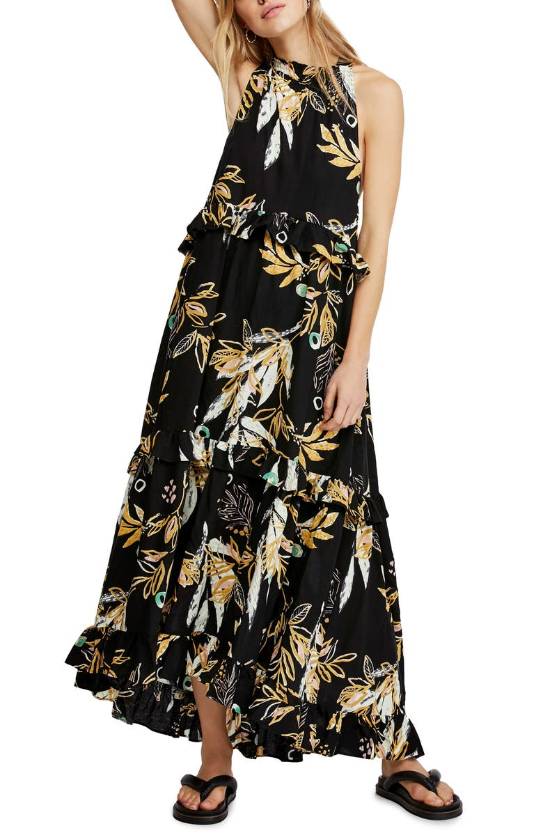 FREE PEOPLE Anita High/Low Dress, Main, color, BLACK
