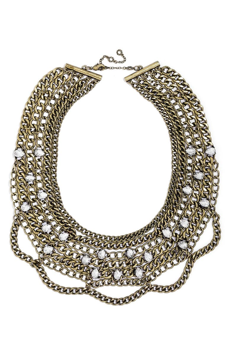 BAUBLEBAR 'Twinkle Chain' Bib Necklace, Main, color, 710