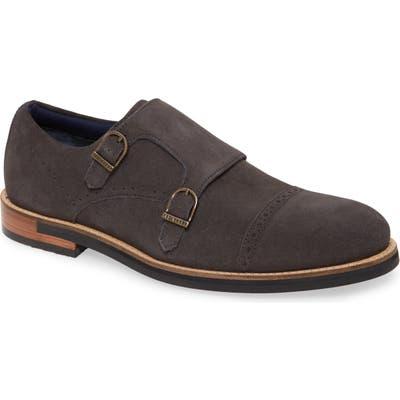 Ted Baker London Clippt Double Monk Strap Shoe- Grey
