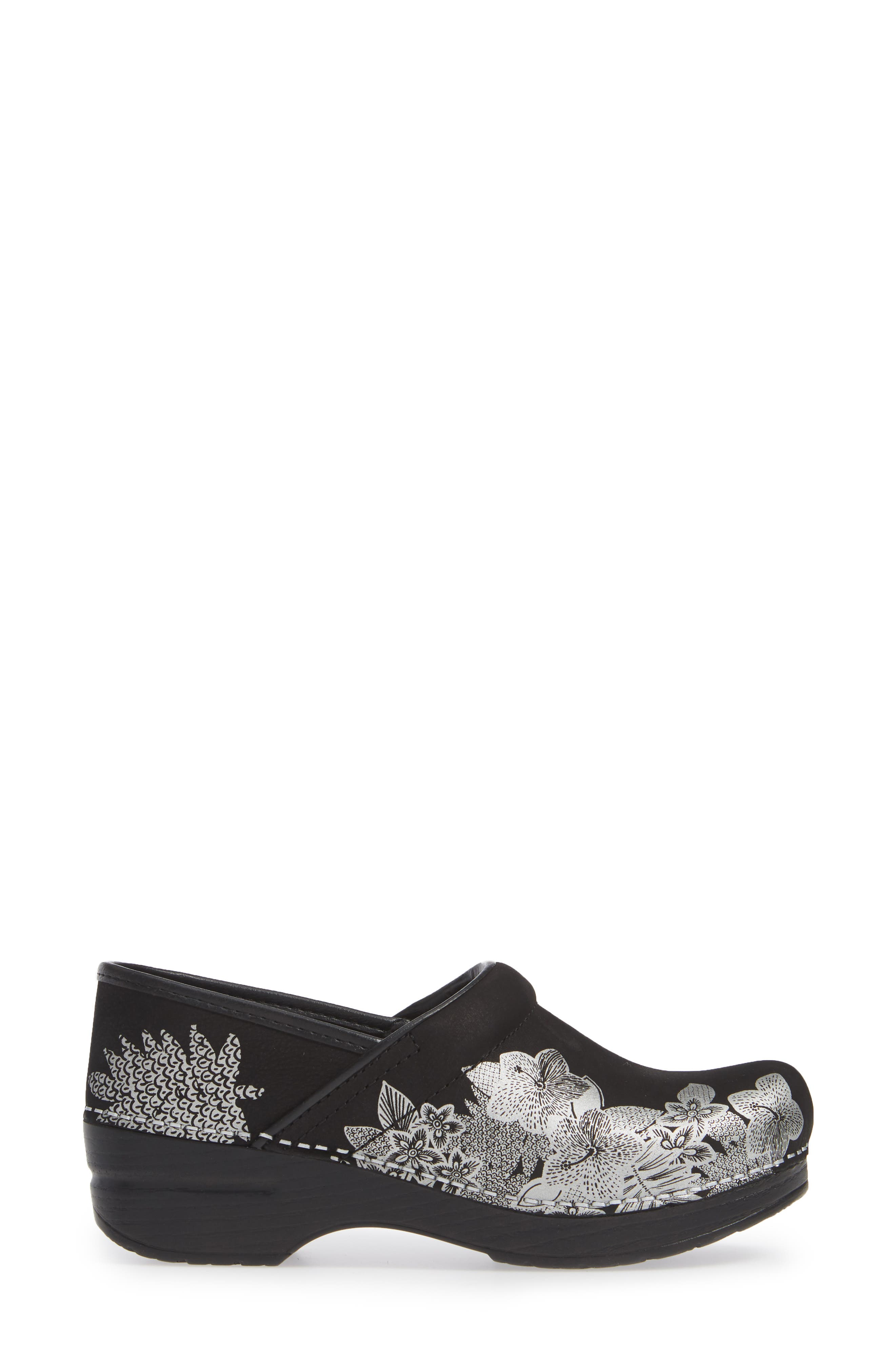 ,                             'Professional' Clog,                             Alternate thumbnail 3, color,                             METALLIC FLORAL NUBUCK LEATHER