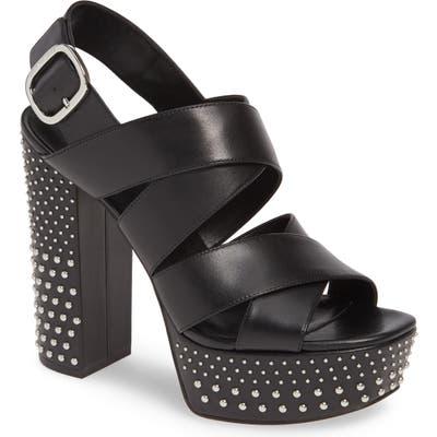 Michael Michael Kors Mila Studded Platform Sandal- Black