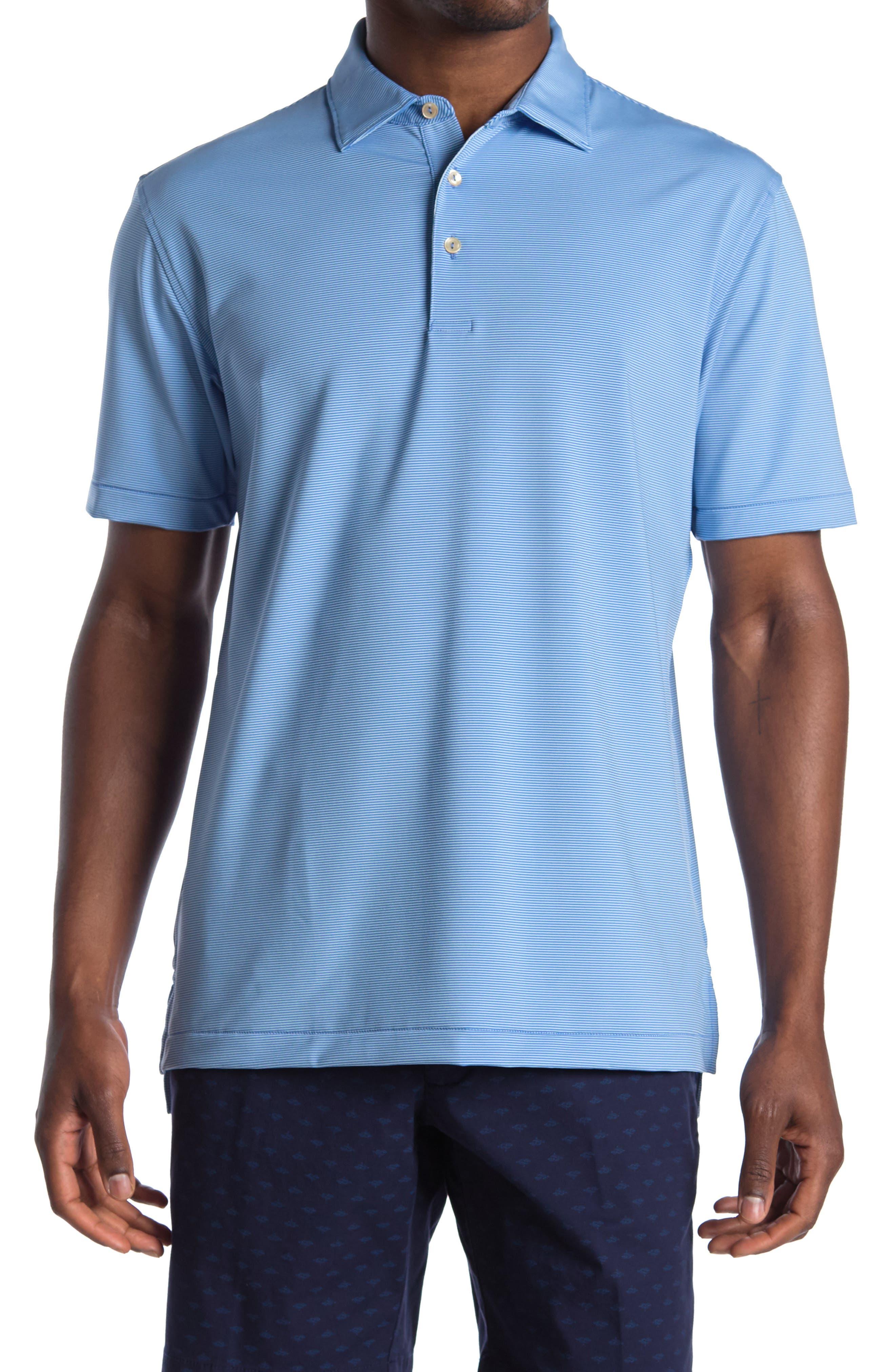 Image of Peter Millar Jubilee Striped Jersey Polo Shirt