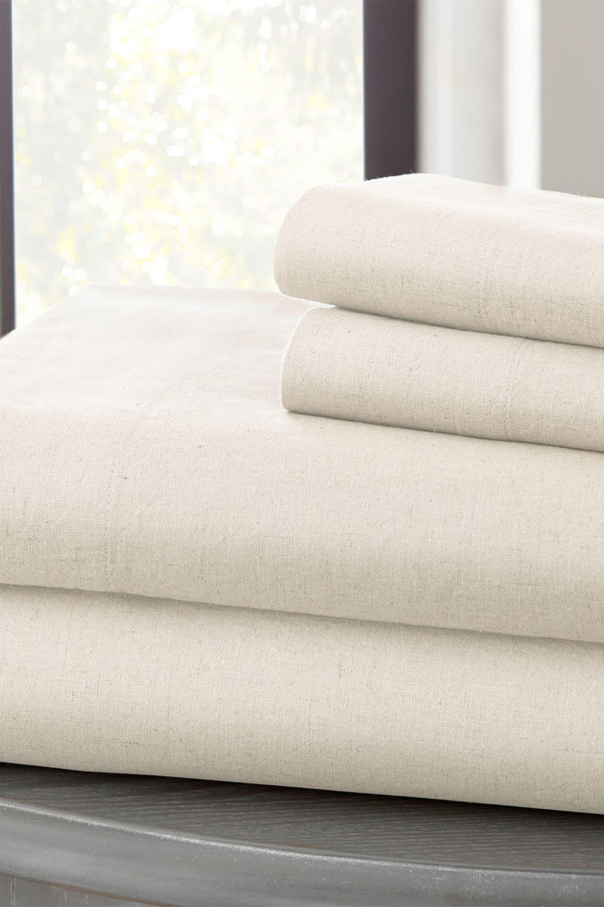Image of Modern Threads Linen Blend Queen Sheet Set - White
