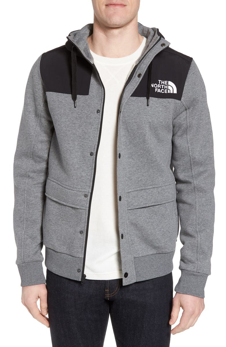 THE NORTH FACE Rivington II Hooded Jacket, Main, color, MEDIUM GREY HEATHER
