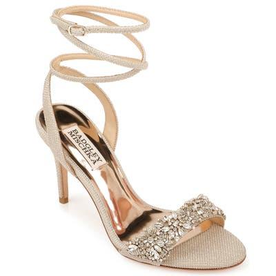Badgley Mischka Jen Ankle Strap Sandal, Metallic