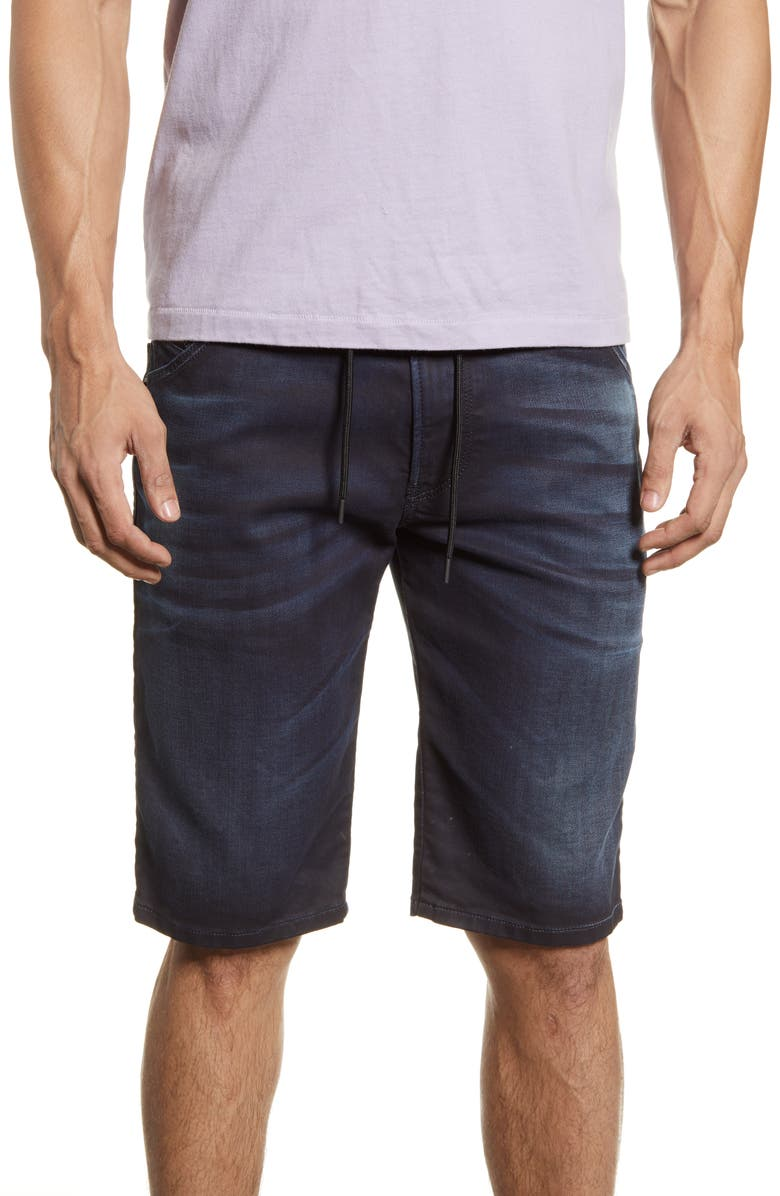 DIESEL<SUP>®</SUP> D-Krooshort JoggJeans Shorts, Main, color, DARK DENIM