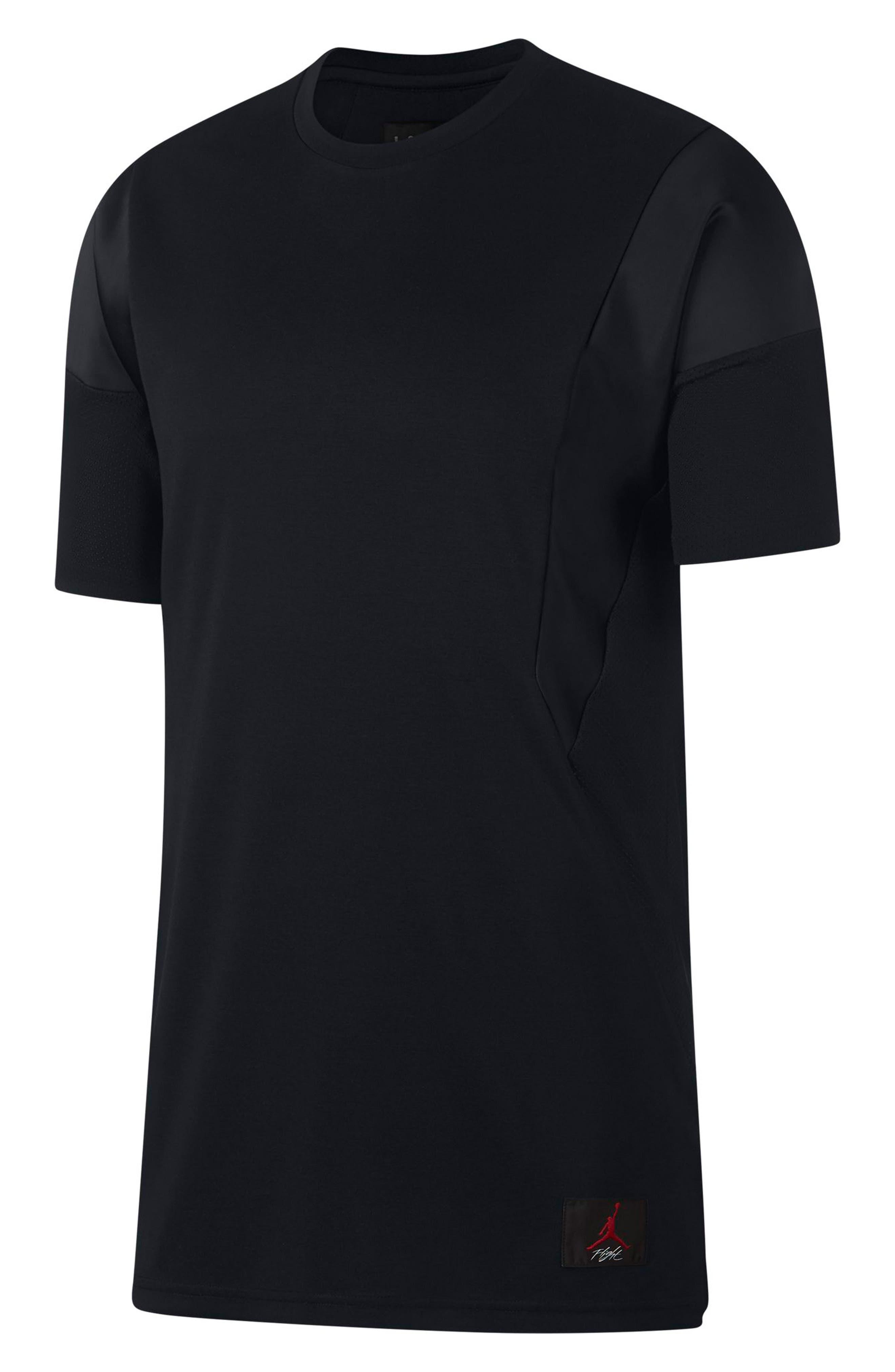 ,                             Flight T-Shirt,                             Main thumbnail 1, color,                             BLACK/ BLACK/ BLACK
