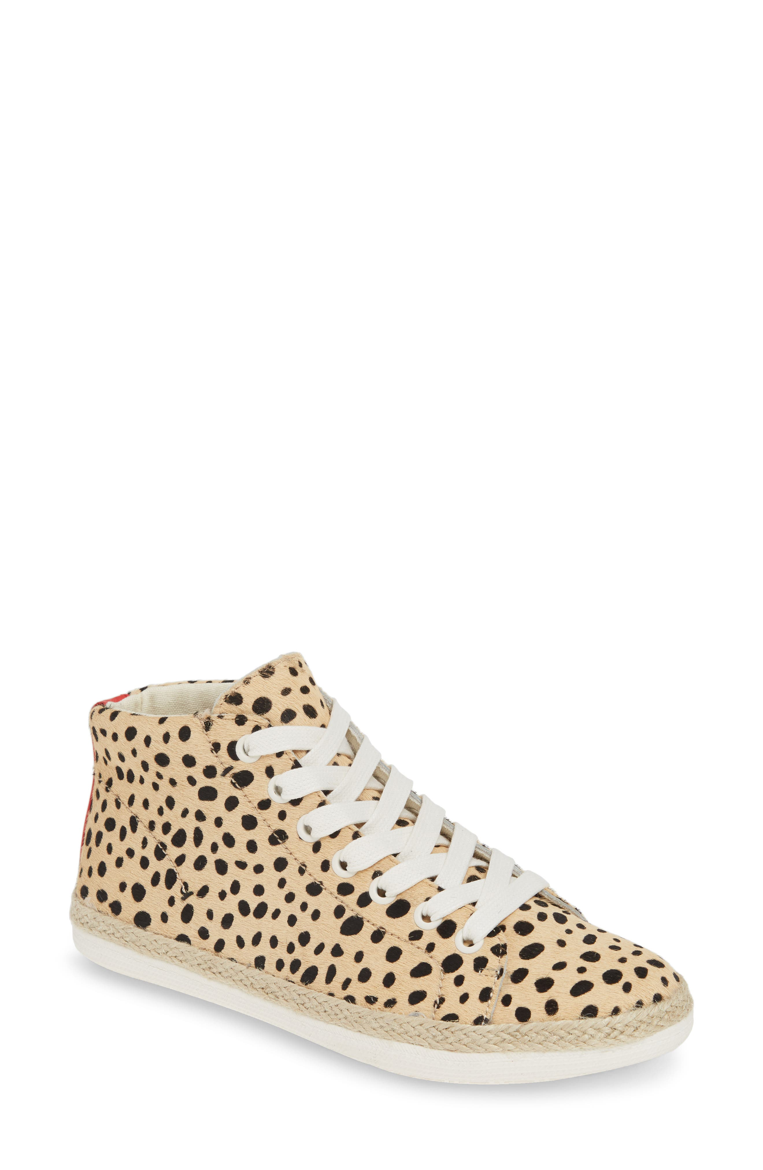 Dolce Vita Akello Espadrille High Top Sneaker, Brown