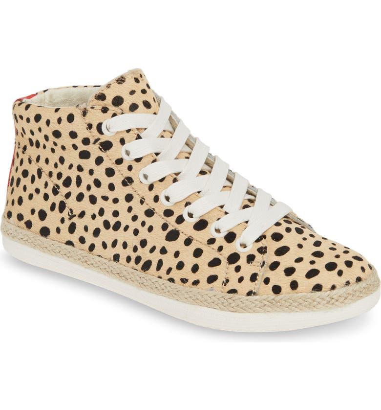 DOLCE VITA Akello Espadrille High Top Sneaker, Main, color, LEOPARD CALF HAIR