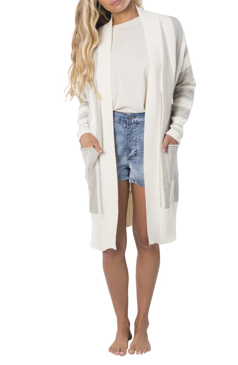 RIP CURL The Nomadic Longline Cardigan, Main, color, OFF WHITE