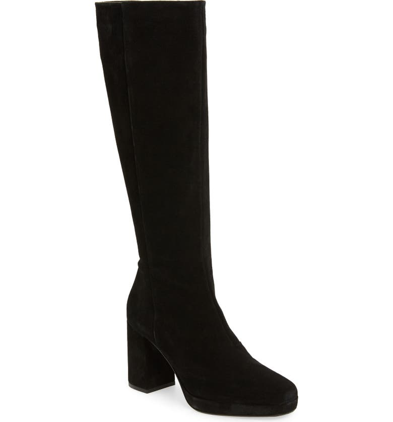 TOPSHOP Toronto Knee High Boot, Main, color, 001