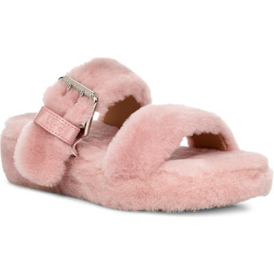 Ugg Fuzz Yeah Genuine Shearling Slipper, Pink