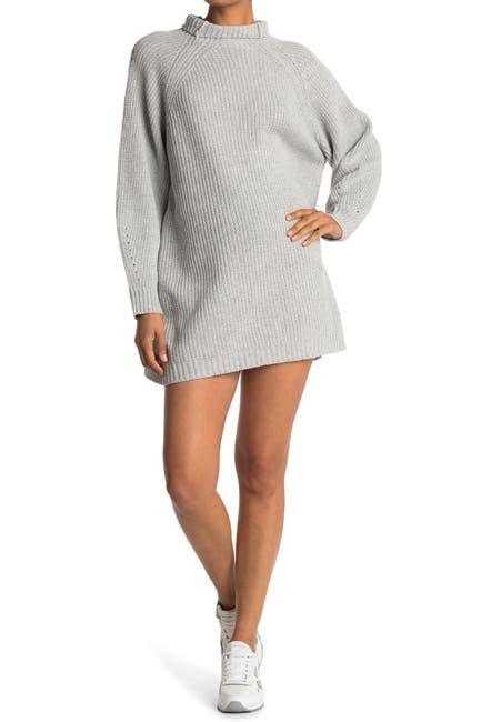Image of BB Dakota Cowl Neck Chunky Knit Sweater Dress