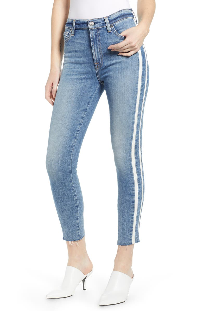 7 FOR ALL MANKIND<SUP>®</SUP> Side Stripe Ankle Skinny Jeans, Main, color, SLOANE VINTAGE