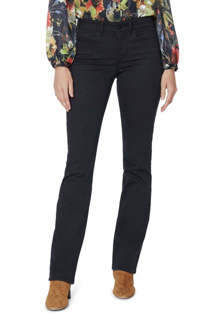 Nydj Marilyn Straight Leg Jeans In Black