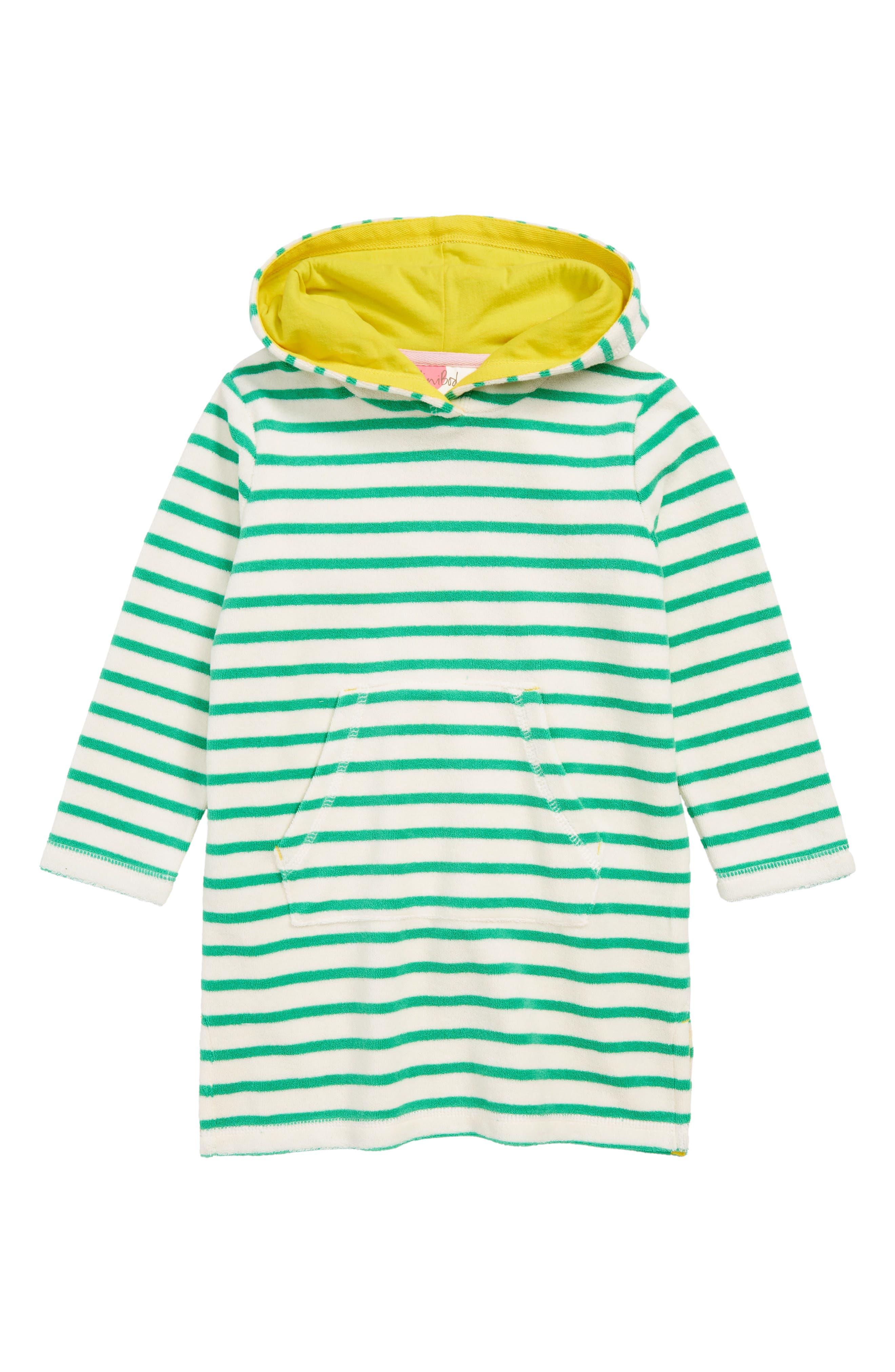 Stripy Terry Beach Cover-Up Dress, Main, color, 900