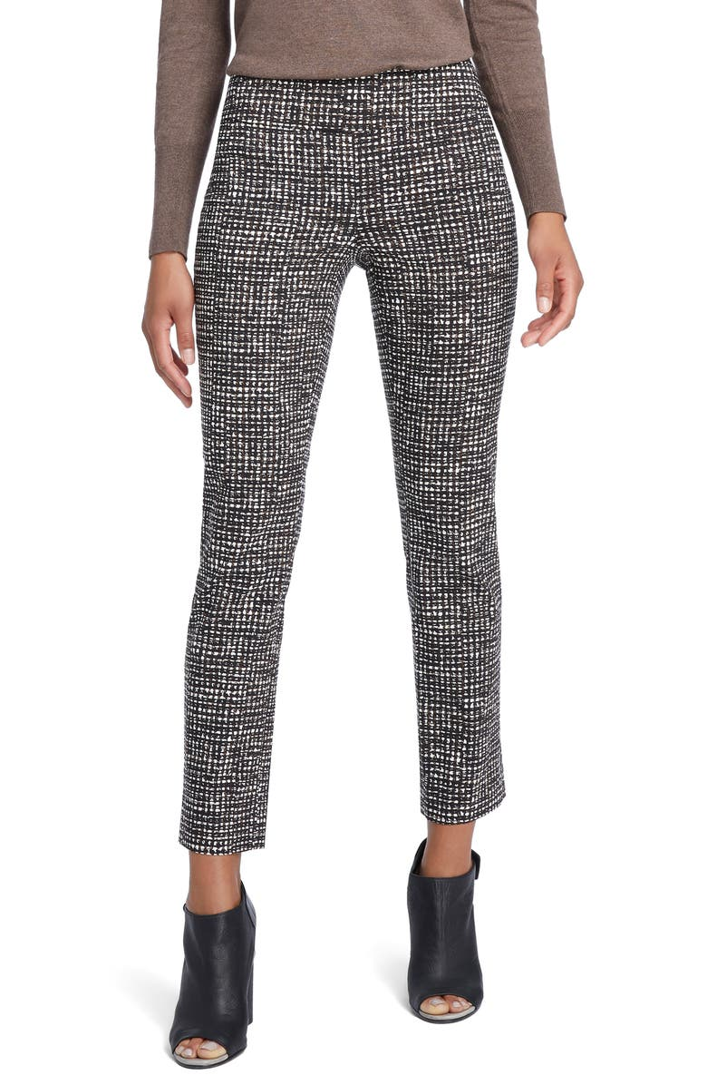 NIC+ZOE Abstract Tweed Print Wonder Stretch Trousers, Main, color, MULTI