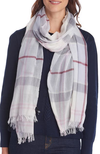 BARBOUR CHECK COTTON SCARF