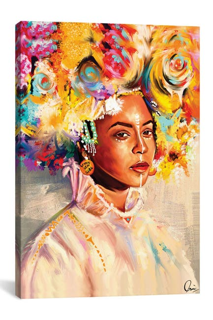 Image of iCanvas Brown Skin Girl by Crixtover Edwin