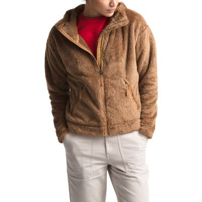 The North Face Furry Fleece Hooded Jacket, Brown