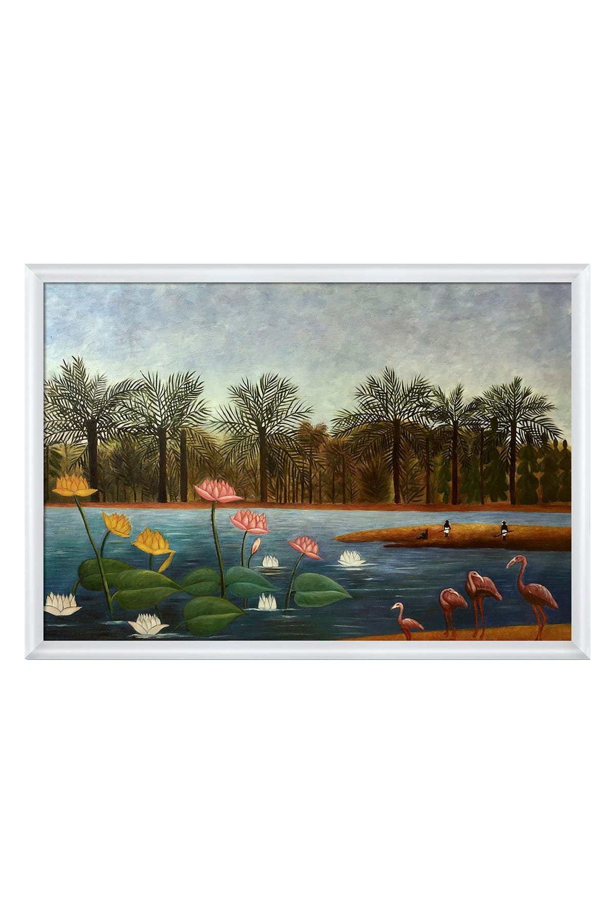 The Flamingoes with Moderne Blanc Frame, 38.75\\\