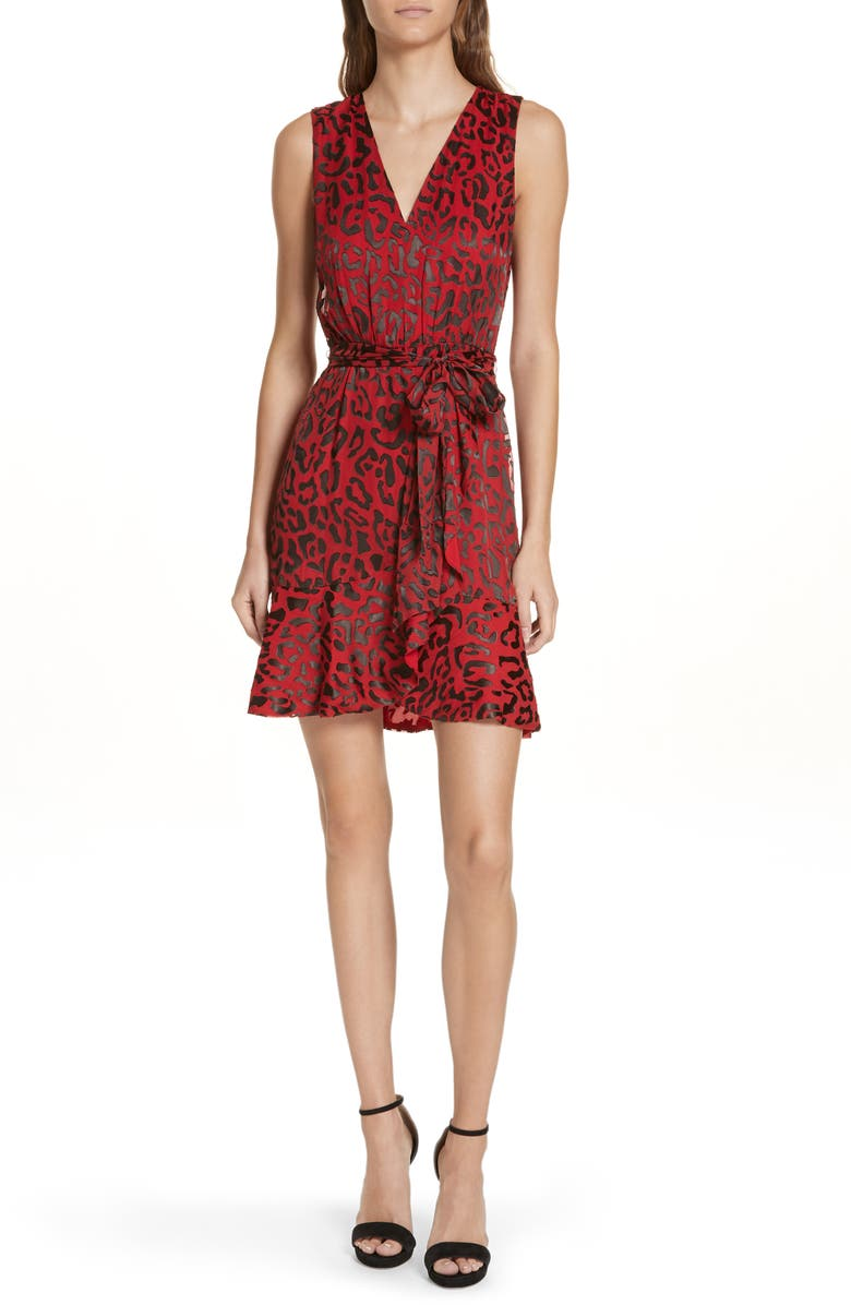 3975ab8d65f6 Alice + Olivia Brooks Animal Print Fit & Flare Dress | Nordstrom