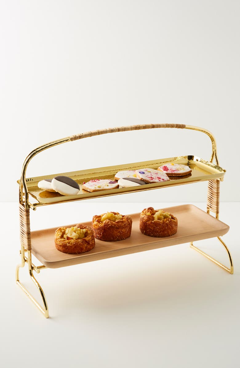 ANTHROPOLOGIE HOME Anthropologie Affara Tiered Serving Stand, Main, color, 710