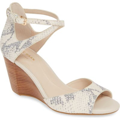 Cole Haan Sadie Grand Wedge Sandal B - Beige