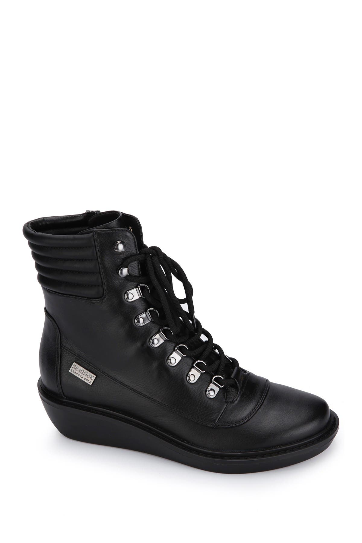Image of Kenneth Cole Reaction Rhyme Hiker Leather Lace Up Boot