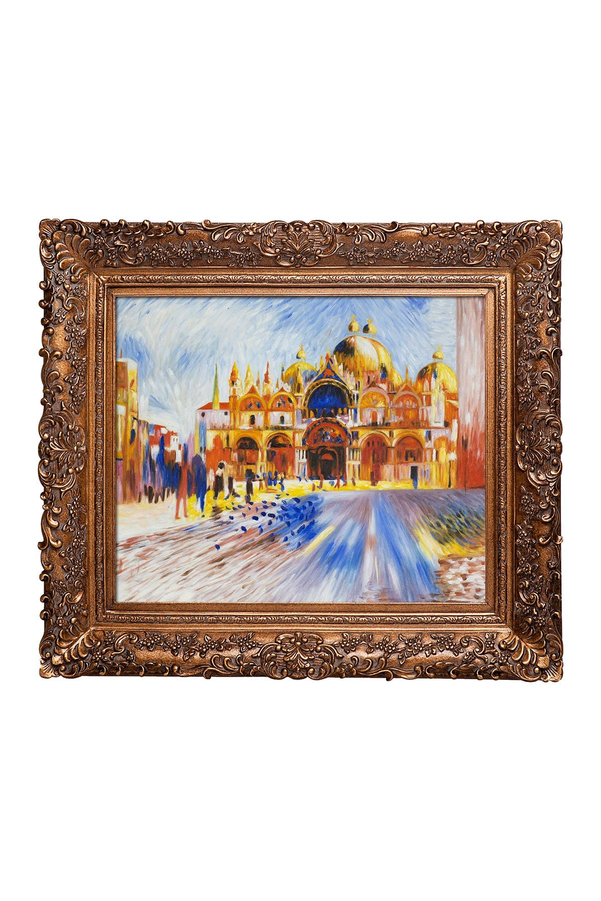 Image of Overstock Art The Piazza San Marco Venice, 1881 Framed Oil reproduction of an original painting by Pierre-Auguste Renoir
