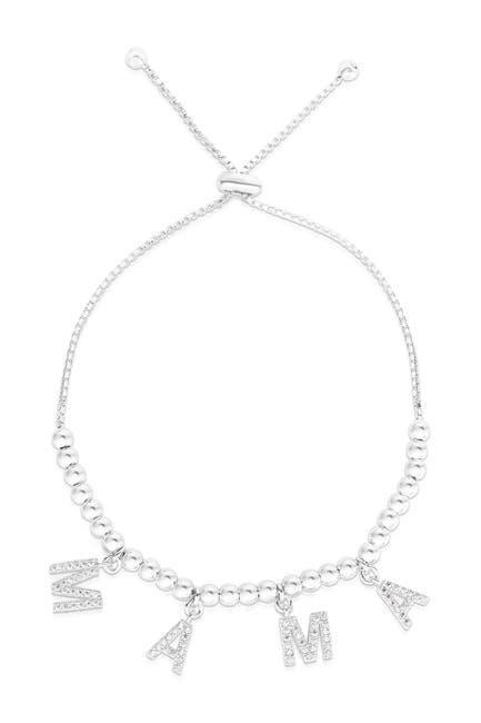 Image of Sphera Milano Rhodium Plated Sterling Silver Mama Bracelet