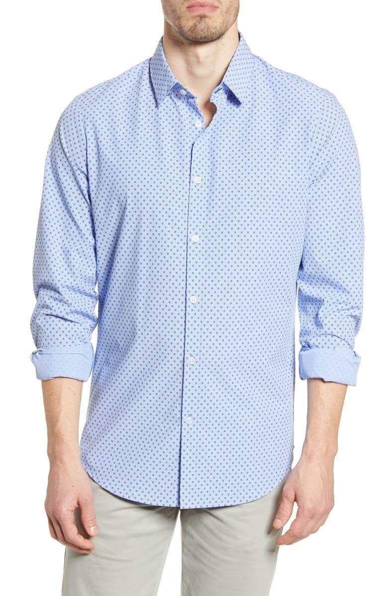 MIZZEN+MAIN Mizzen + Main Leeward Trim Fit Button-Up Performance Shirt, Main, color, 420