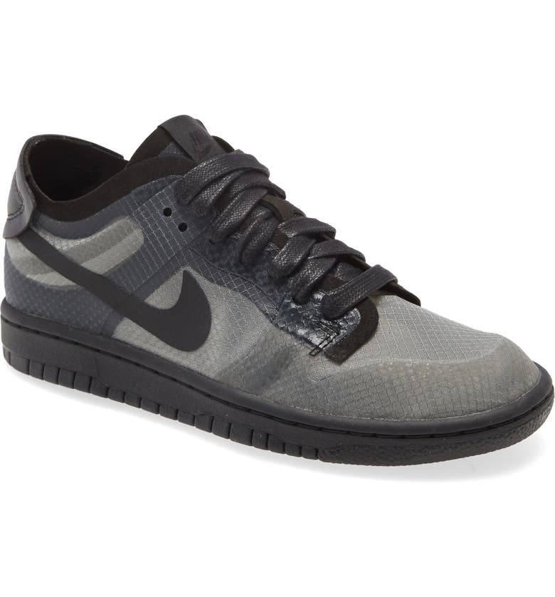 COMME DES GARÇONS x Nike Dunk Low Transparent Sneaker, Main, color, BLACK