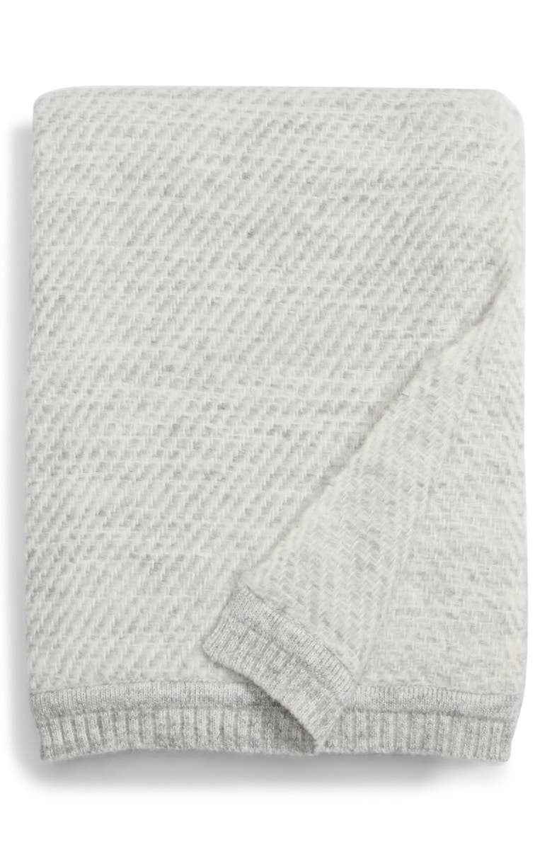 JENNI KAYNE Loom Alpaca Blend Throw Blanket, Main, color, CHARCOAL