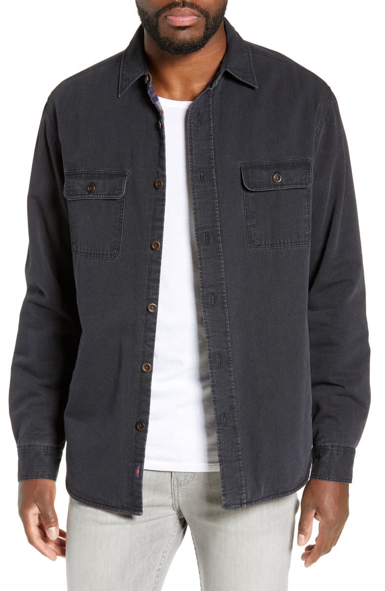 FAHERTY Blanket Lined CPO Jacket, Main, color, 009