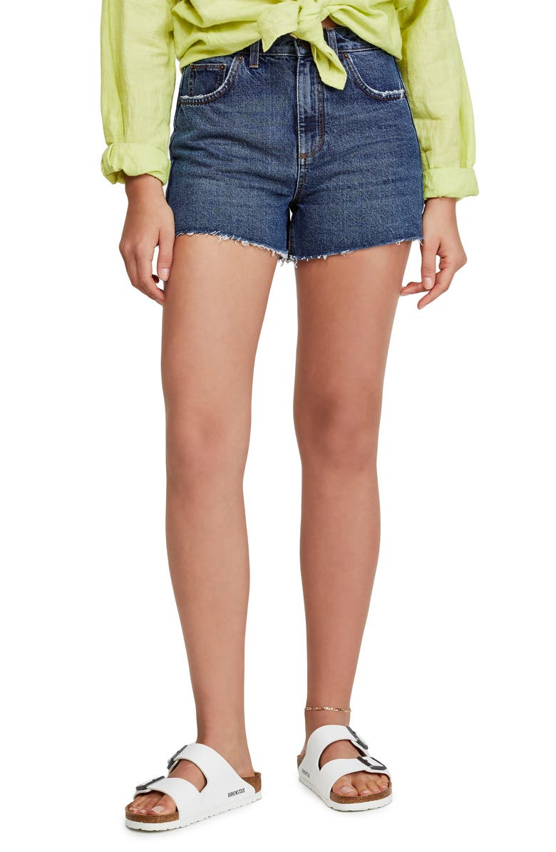 BDG Urban Outfitters High Waist Denim Mom Shorts, Main, color, DARK VINTAGE