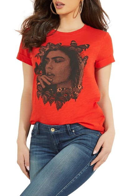 Guess T-shirts FACE EASY GRAPHIC TEE