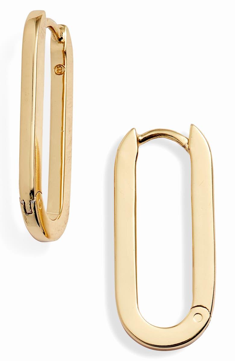 GORJANA Parker Huggie Link Earrings, Main, color, GOLD