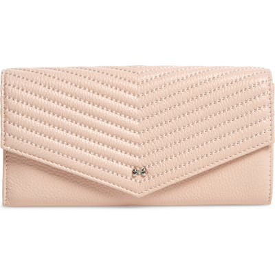 Ted Baker London Anais Quilted Envelope Crossbody Bag - Pink