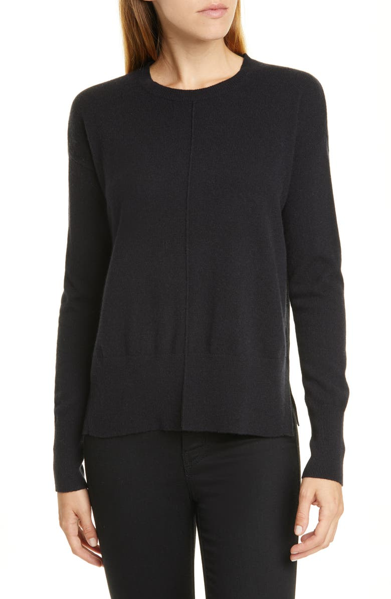 NORDSTROM SIGNATURE Cashmere Pullover, Main, color, 001