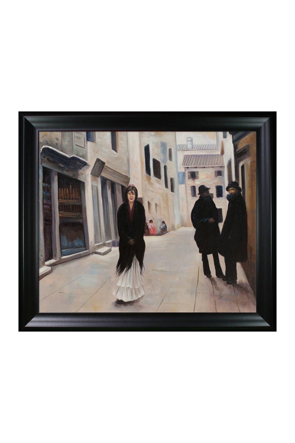Overstock Art Street in Venice with Black Matte Frame, 25\\\